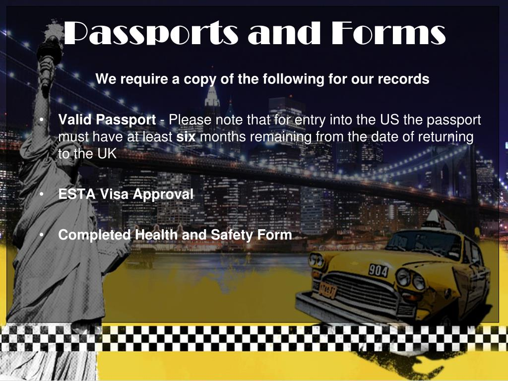 We require a copy of the following for our records