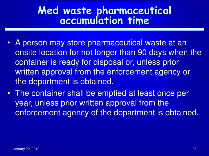 Med waste pharmaceutical