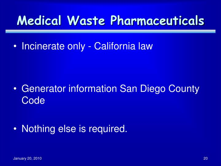 Medical Waste Pharmaceuticals