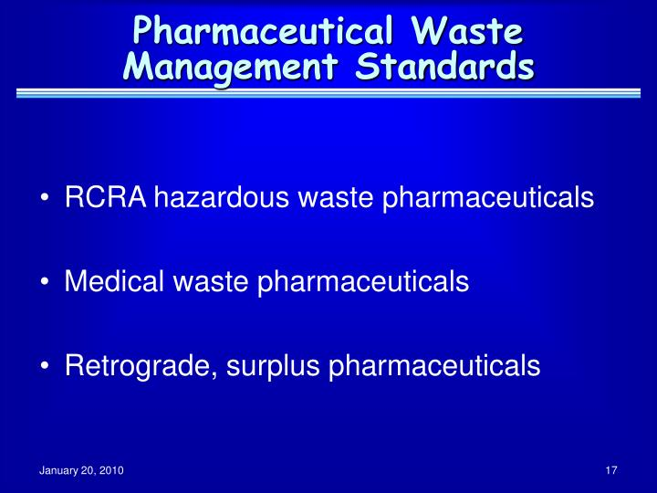 Pharmaceutical Waste