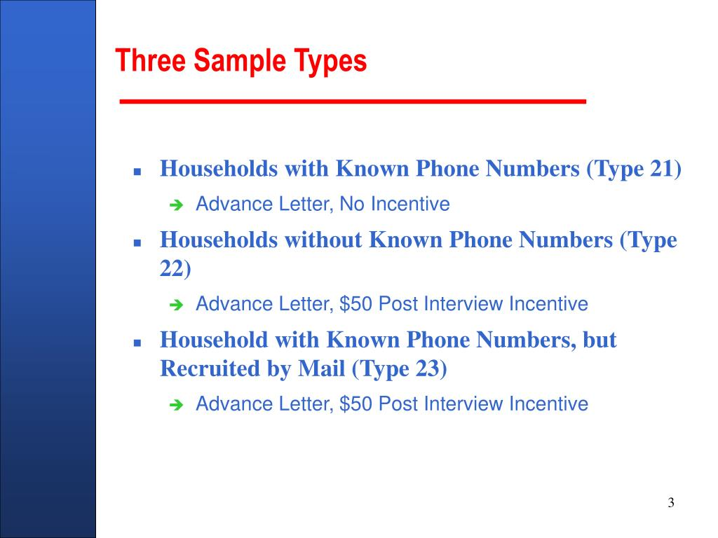 Three Sample Types