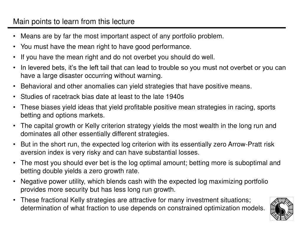 Main points to learn from this lecture