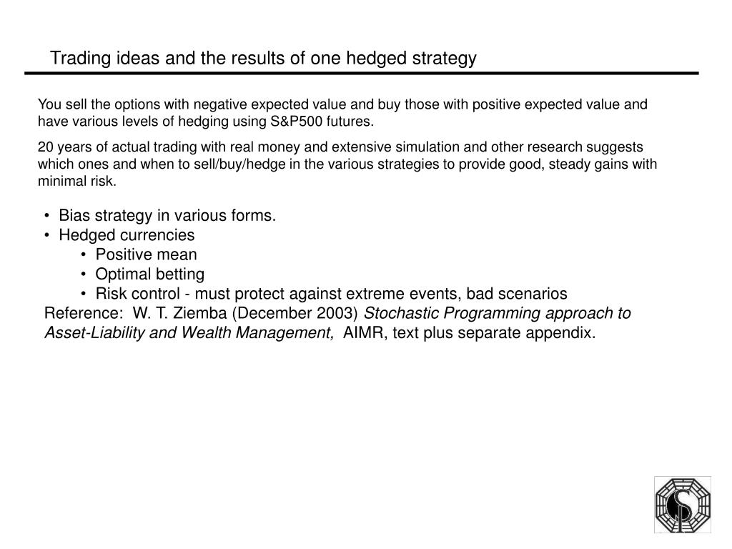 Trading ideas and the results of one hedged strategy