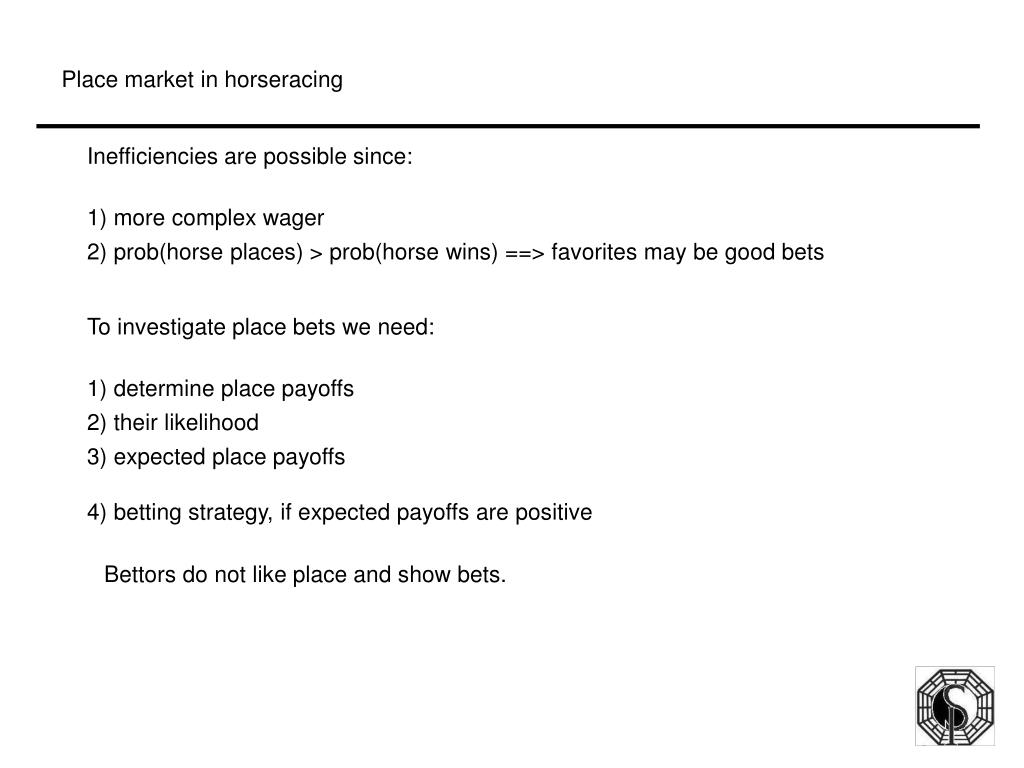 Place market in horseracing