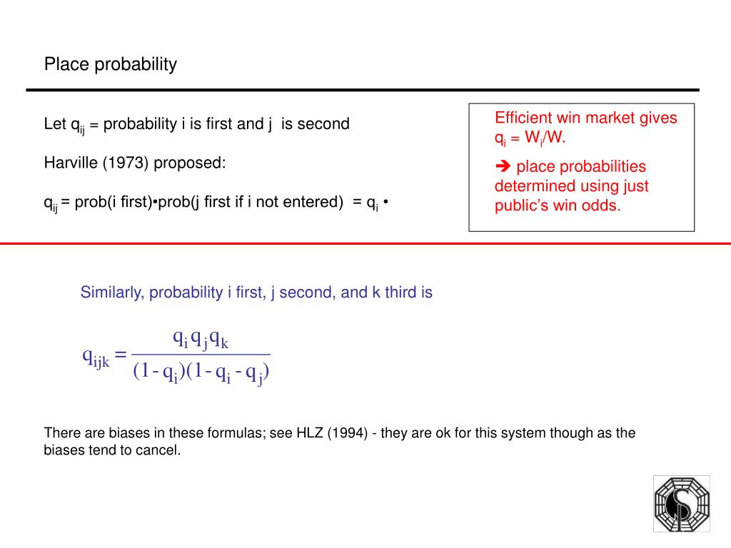 Similarly, probability i first, j second, and k third is