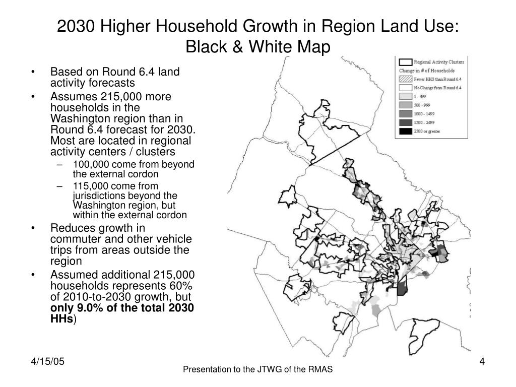 2030 Higher Household Growth in Region Land Use: