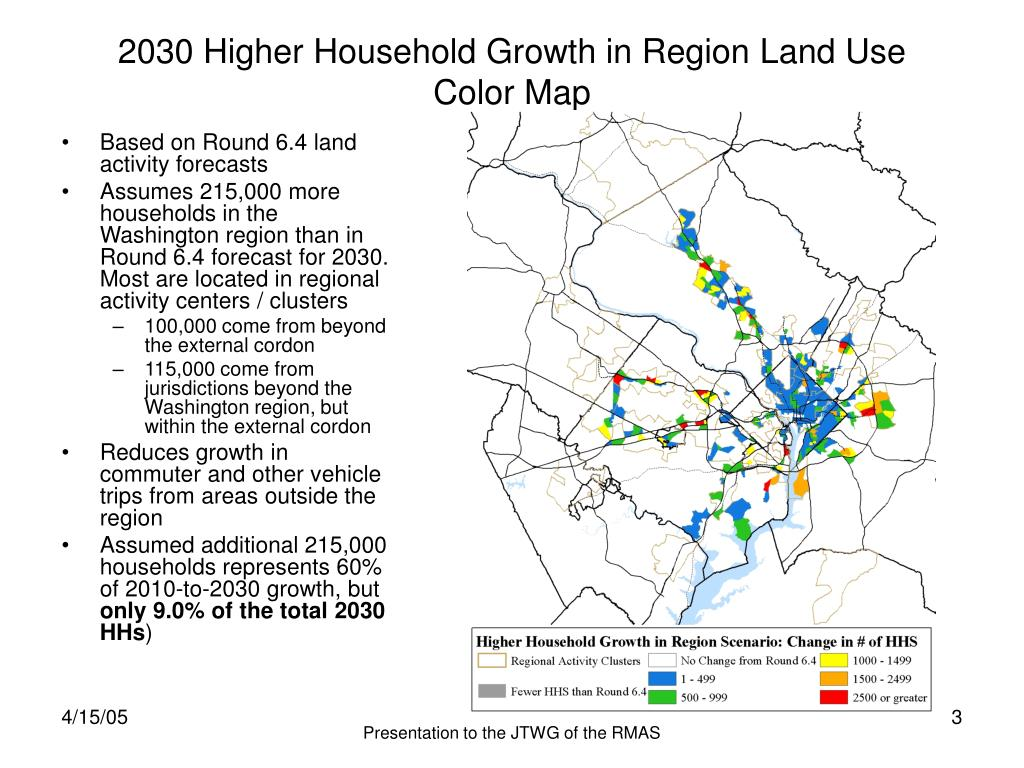 2030 Higher Household Growth in Region Land Use