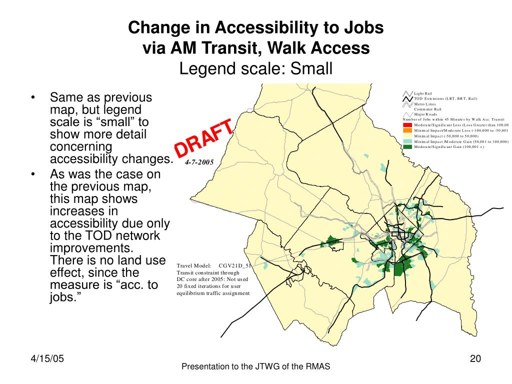 Change in Accessibility to Jobs