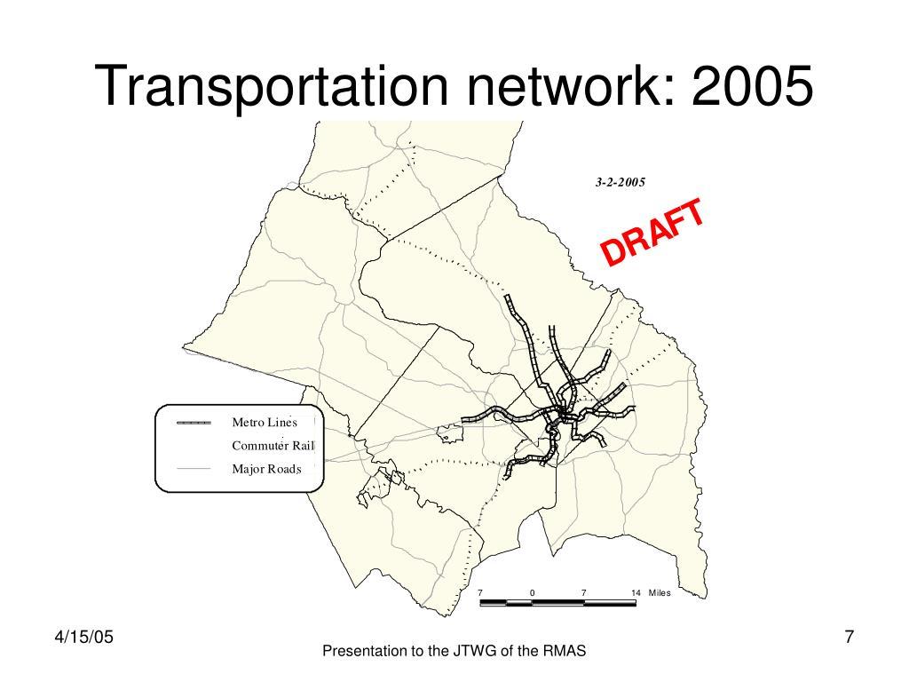 Transportation network: 2005