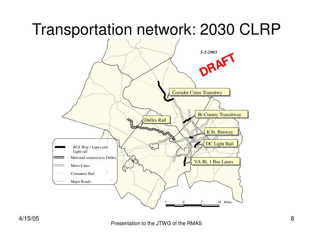 Transportation network: 2030 CLRP
