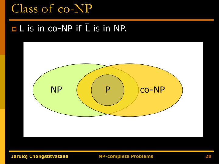 Class of co-NP