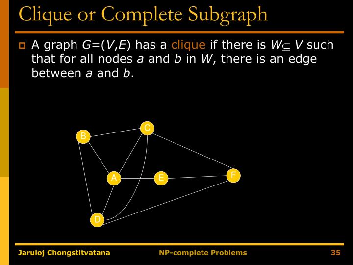 Clique or Complete Subgraph