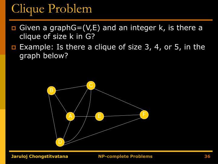 Clique Problem