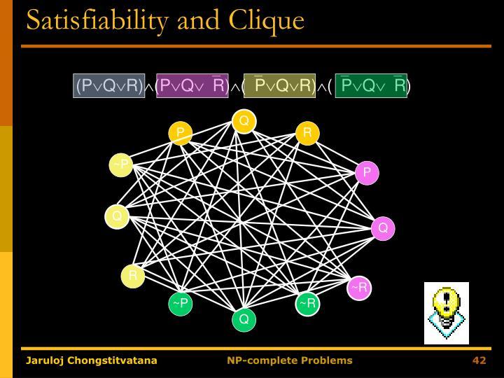 Satisfiability and Clique