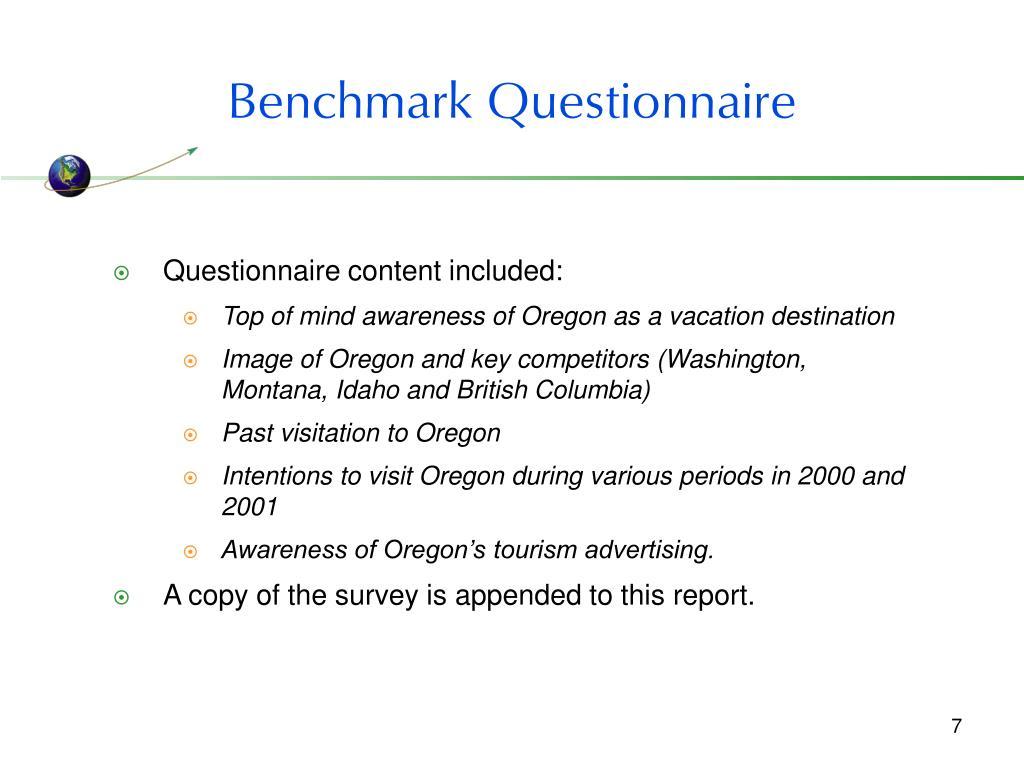 Benchmark Questionnaire