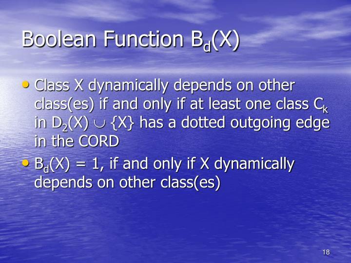 Boolean Function B