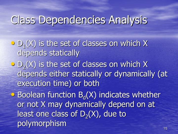 Class Dependencies Analysis