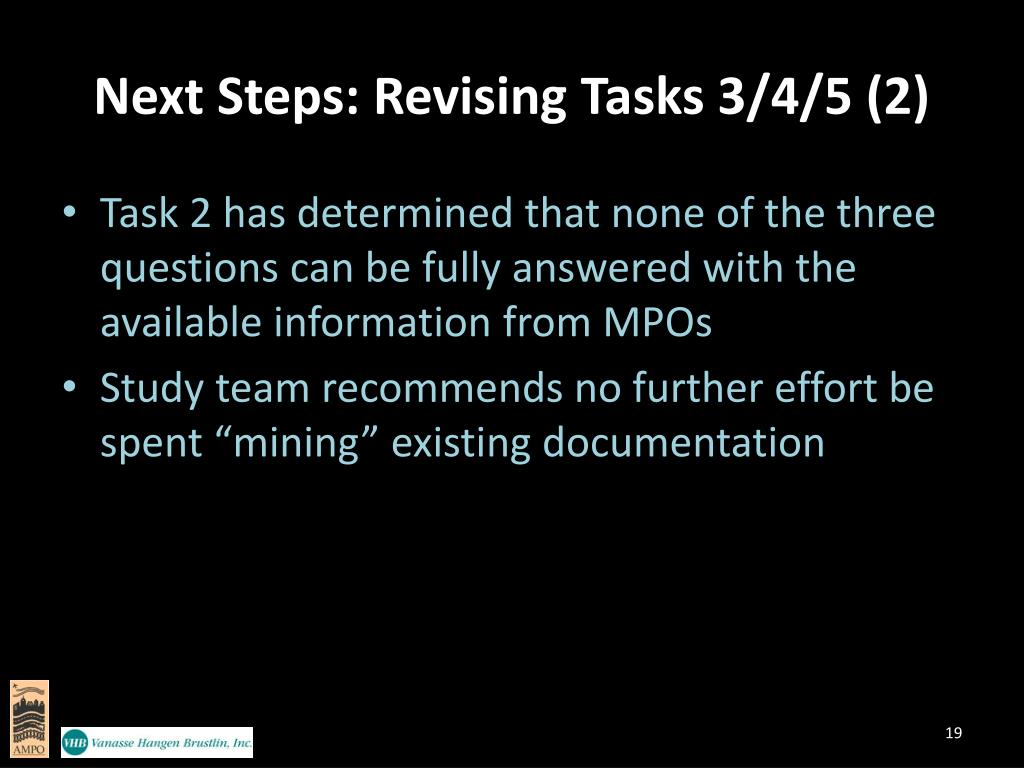 Next Steps: Revising Tasks 3/4/5 (2)