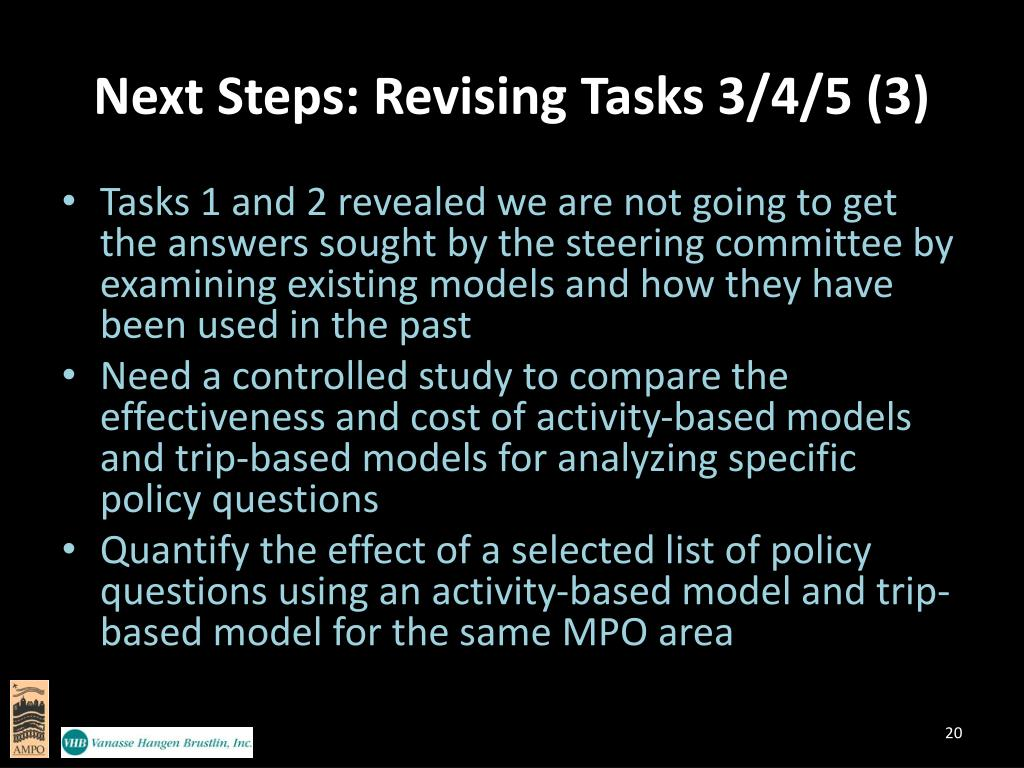 Next Steps: Revising Tasks 3/4/5 (3)