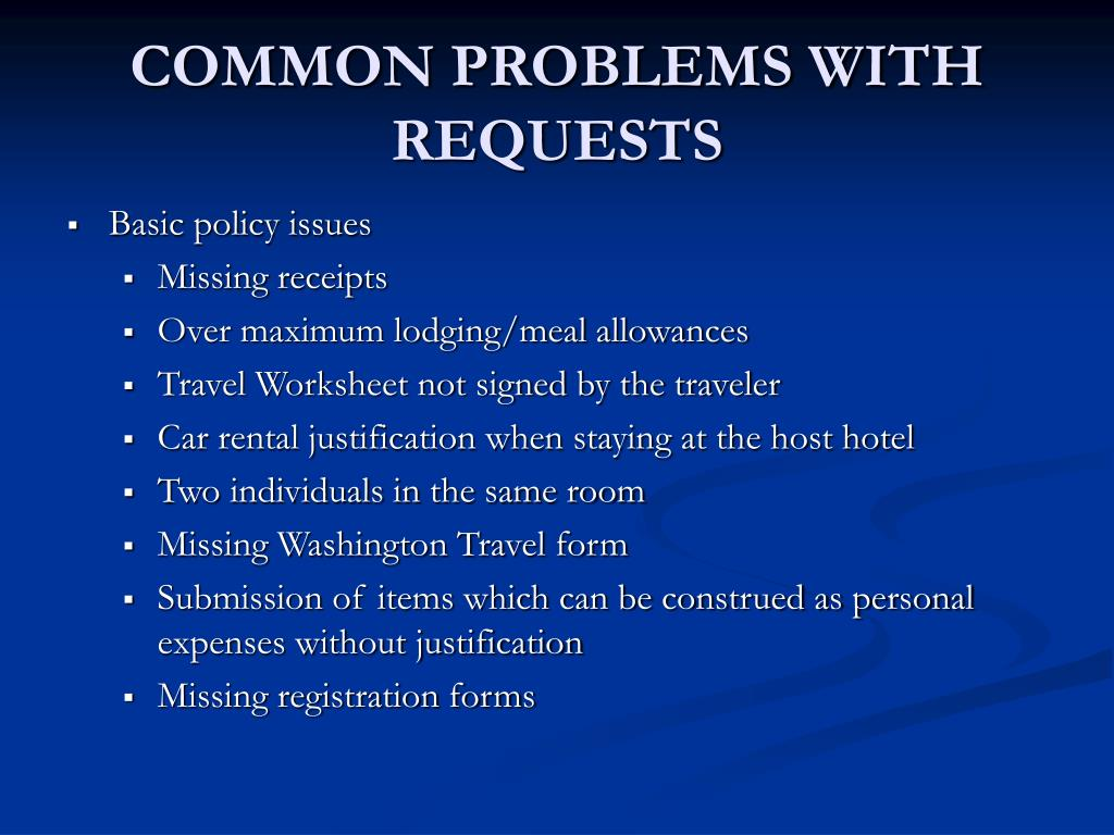 COMMON PROBLEMS WITH REQUESTS