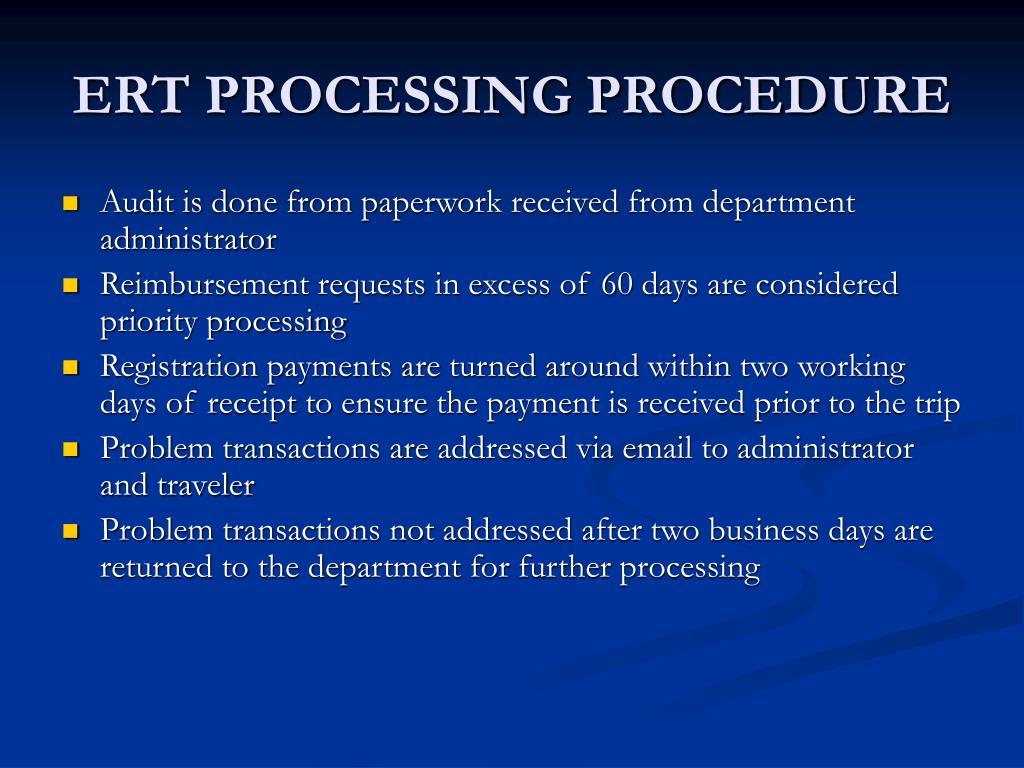 ERT PROCESSING PROCEDURE