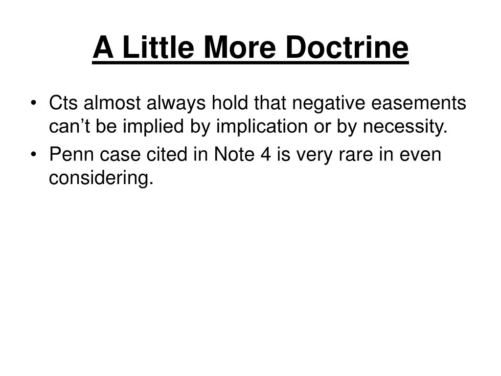 A Little More Doctrine