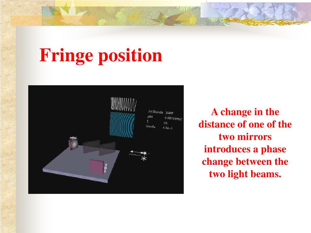 Fringe position