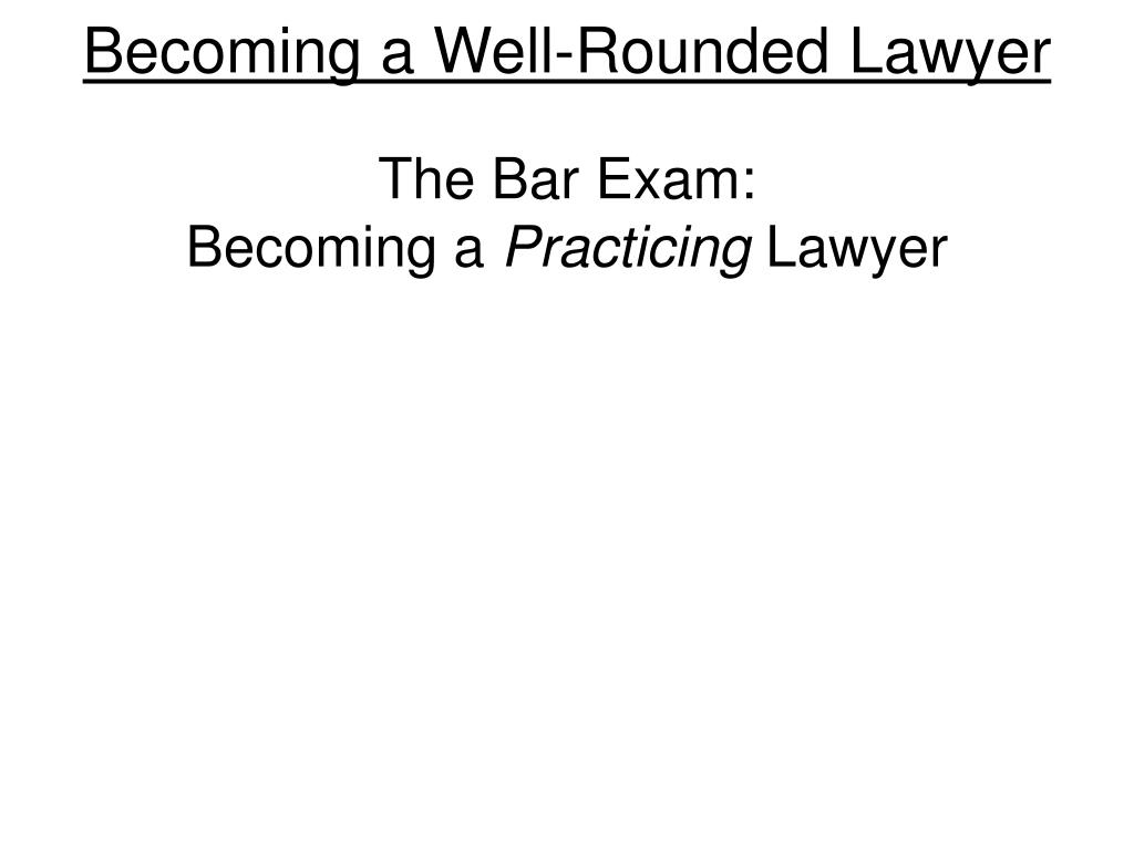 Becoming a Well-Rounded Lawyer