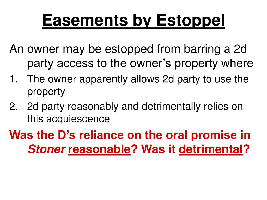 Easements by Estoppel