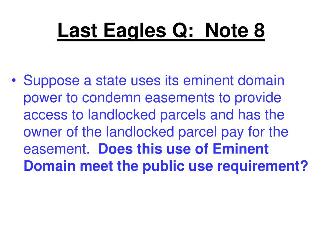 Last Eagles Q:  Note 8