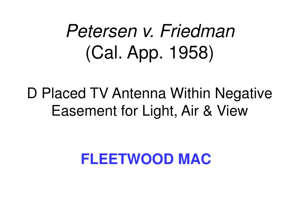 Petersen v. Friedman