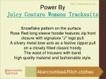 power by juicy couture womens tracksuits
