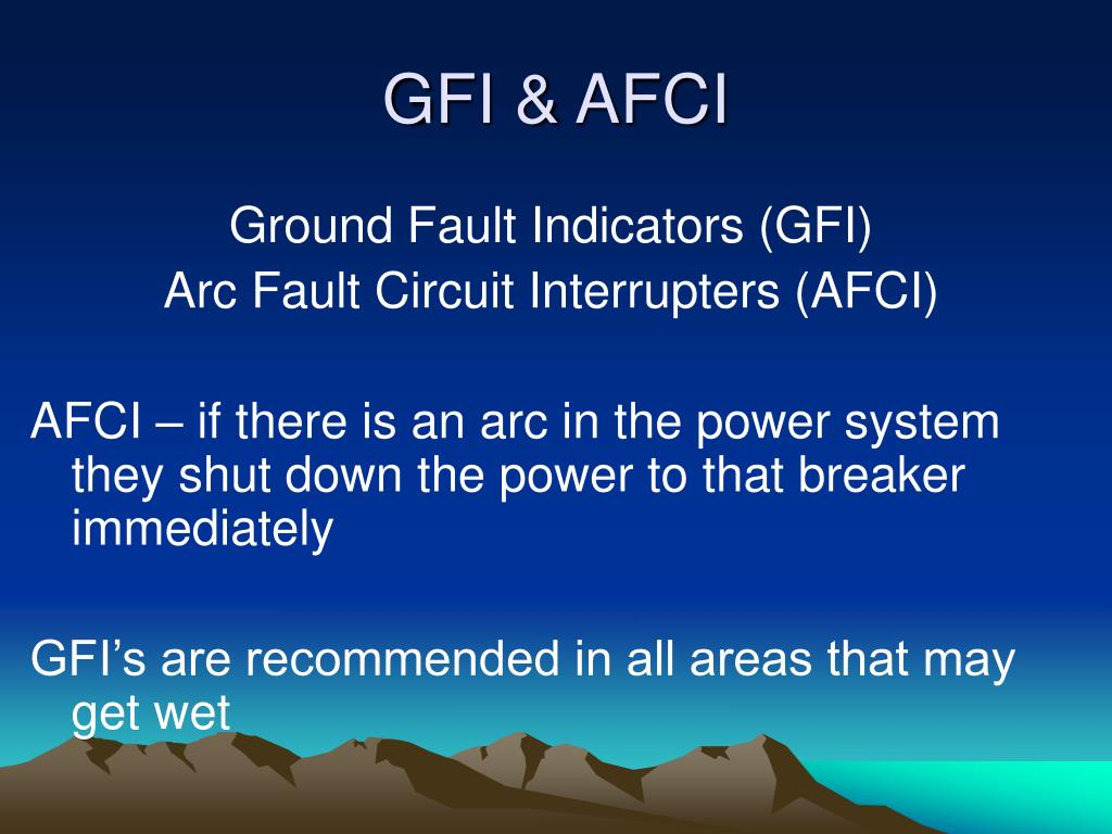 GFI & AFCI