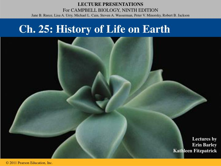 Ch. 25: History of Life on Earth