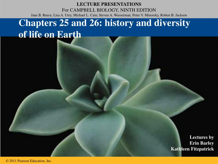 Chapters 25 and 26 history and diversity of life on earth