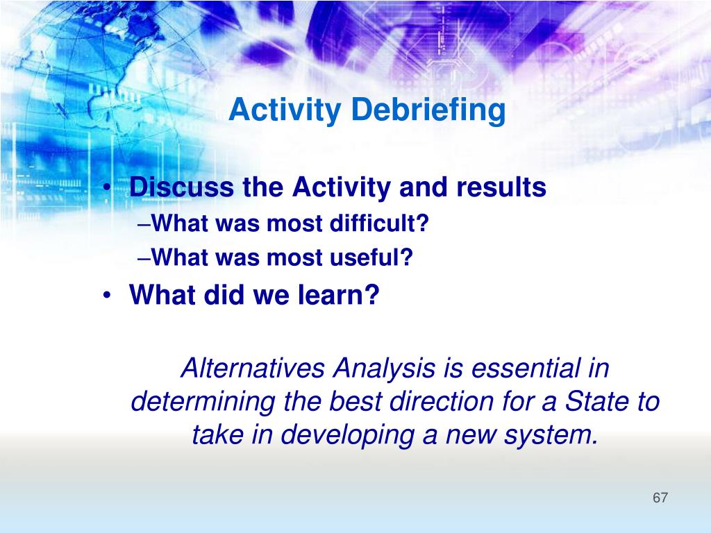 Activity Debriefing
