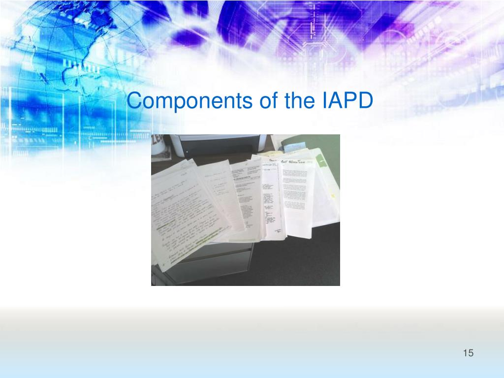 Components of the IAPD