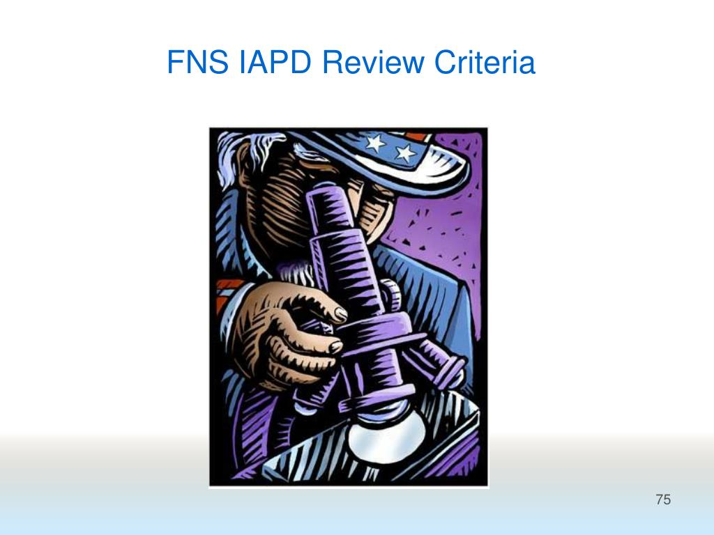 FNS IAPD Review Criteria