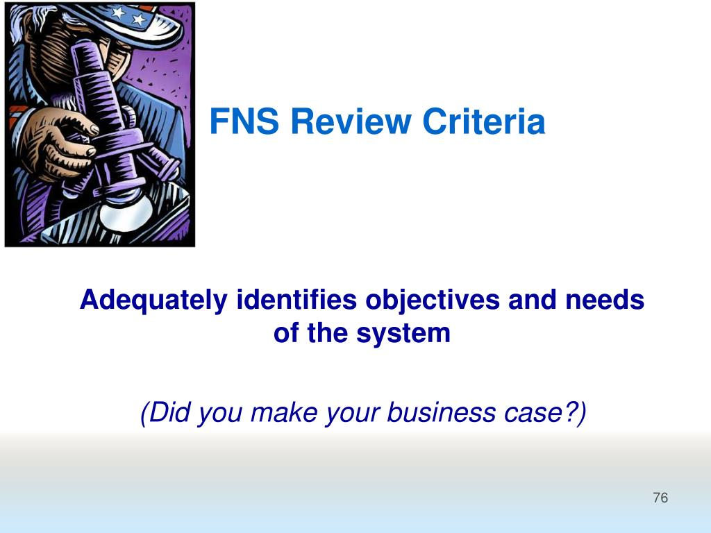 FNS Review Criteria