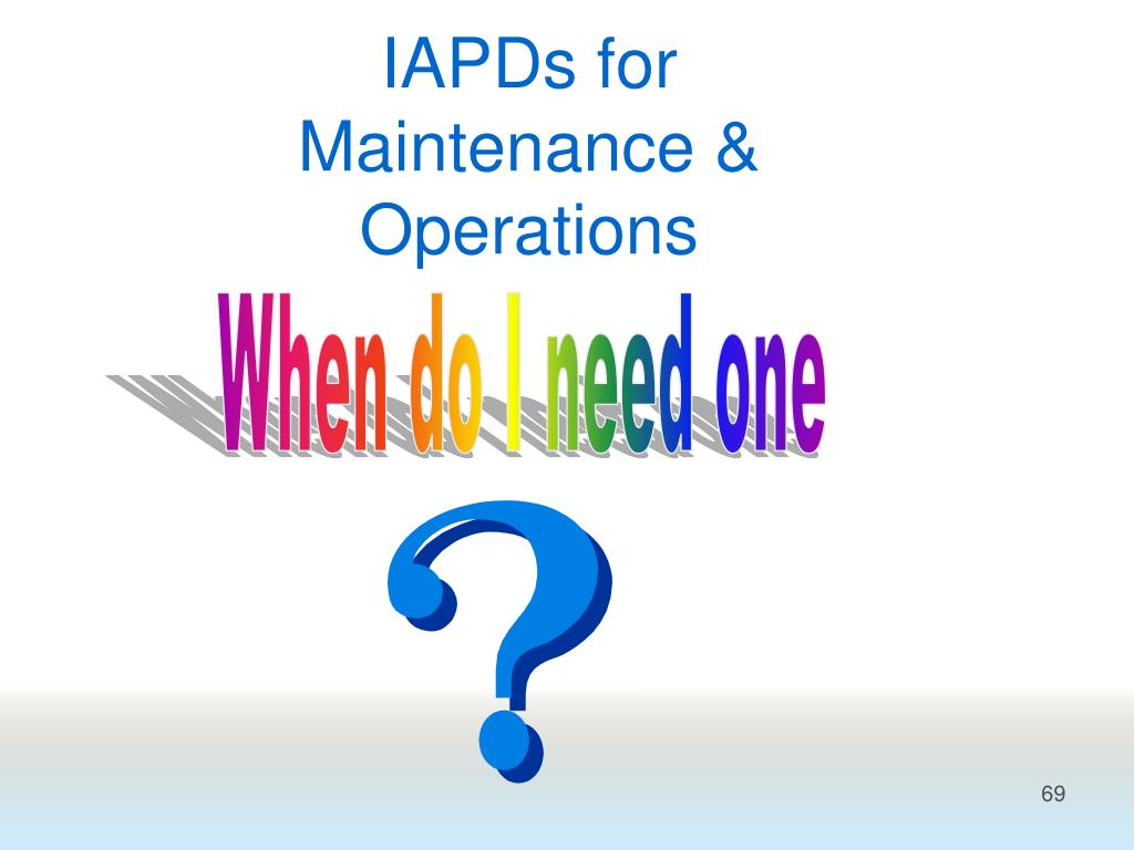 IAPDs for