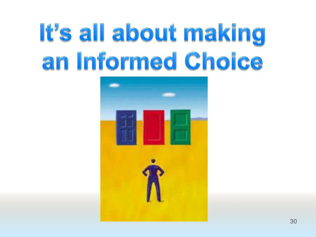It's all about making an Informed Choice