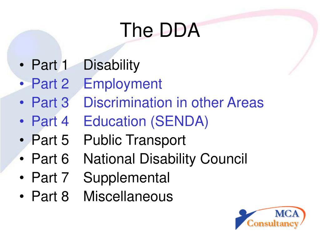 The DDA