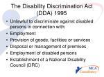 the disability discrimination act dda 1995