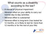 what counts as a disability according to the law