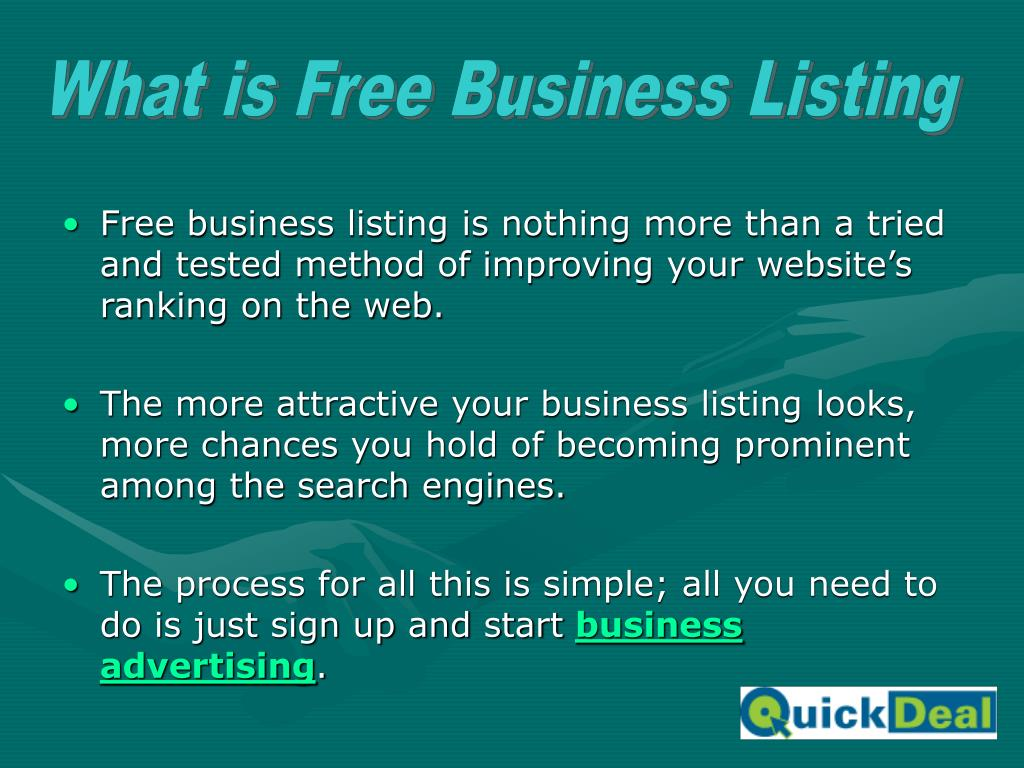 What is Free Business Listing
