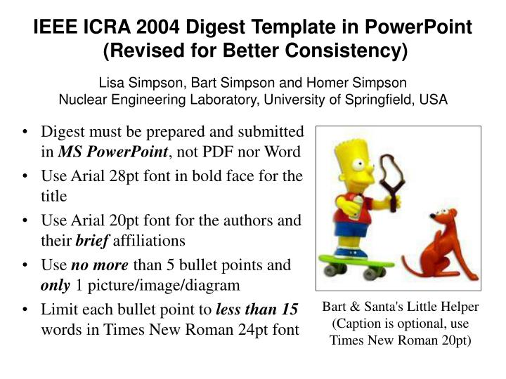Ieee icra 2004 digest template in powerpoint revised for better consistency