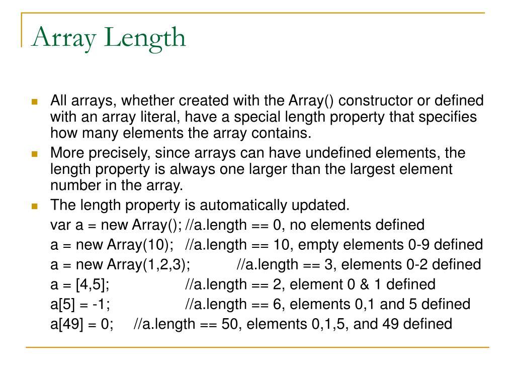 Array Length