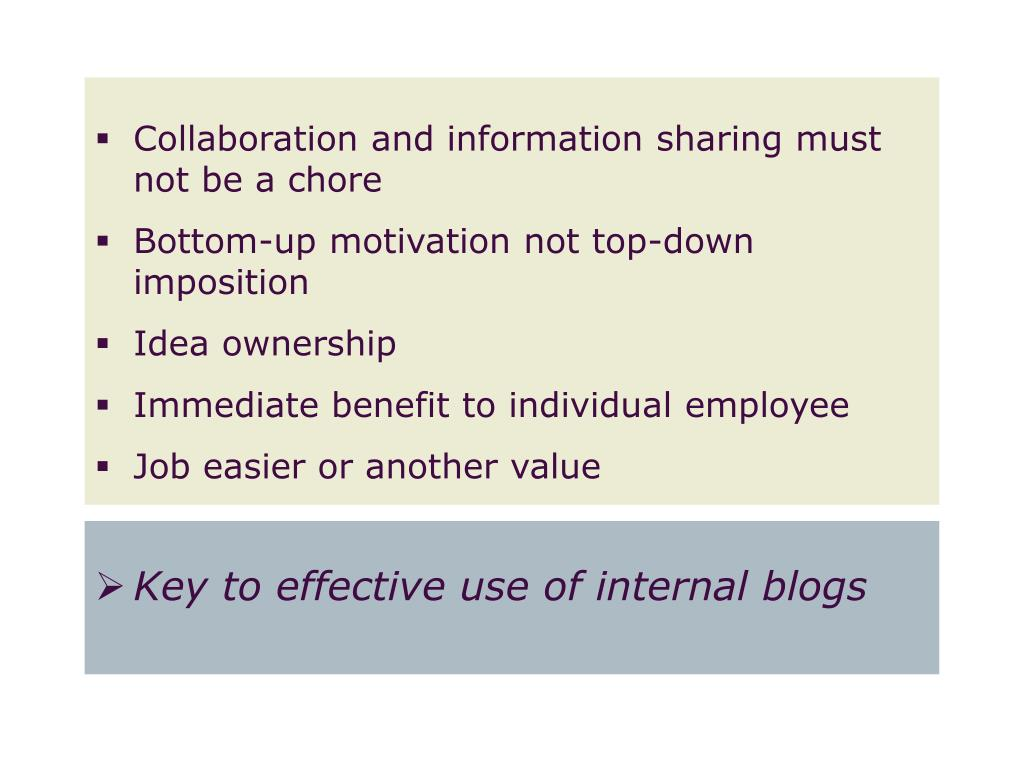 Collaboration and information sharing must not be a chore