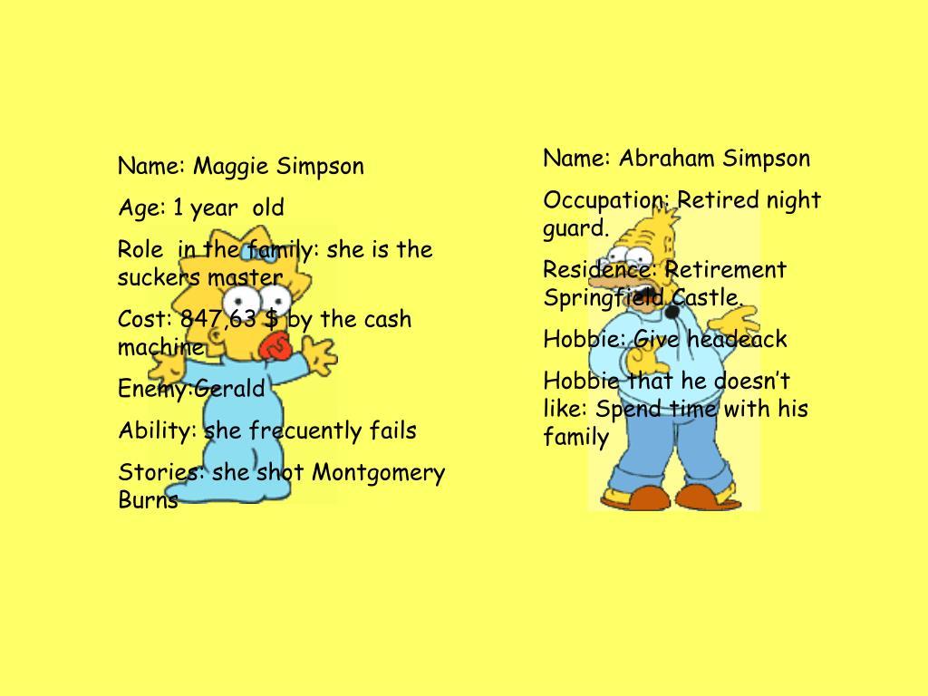 Name: Abraham Simpson