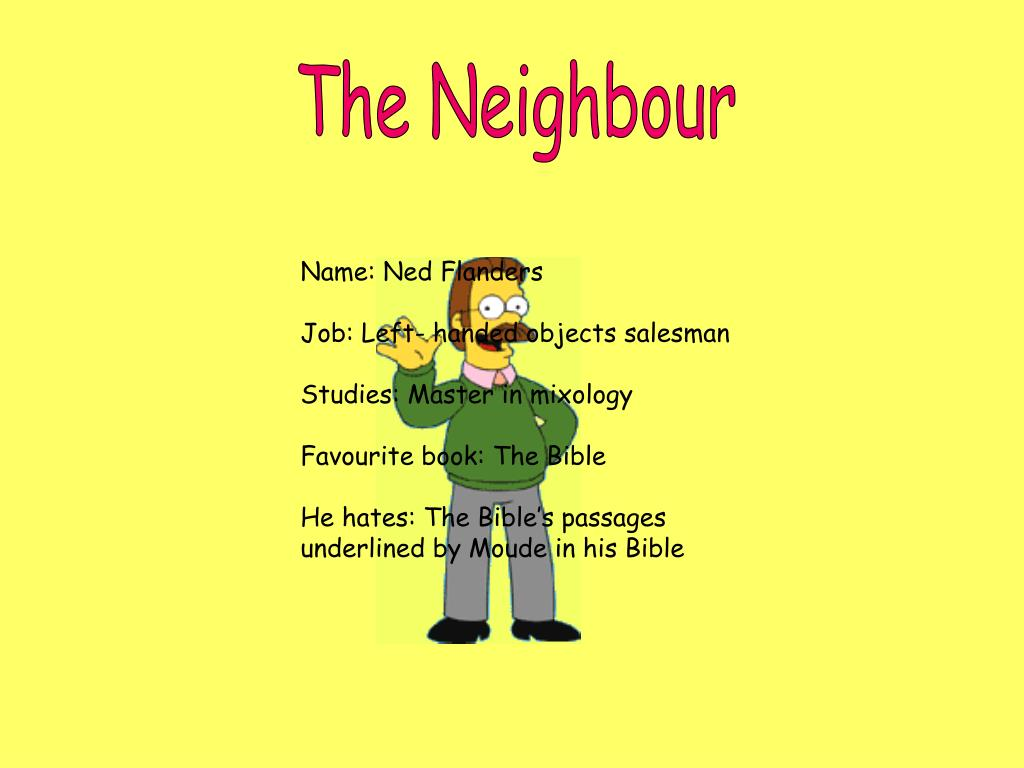 Name: Ned Flanders